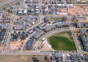 Holiday Crescent Aerial Boulder Colorado